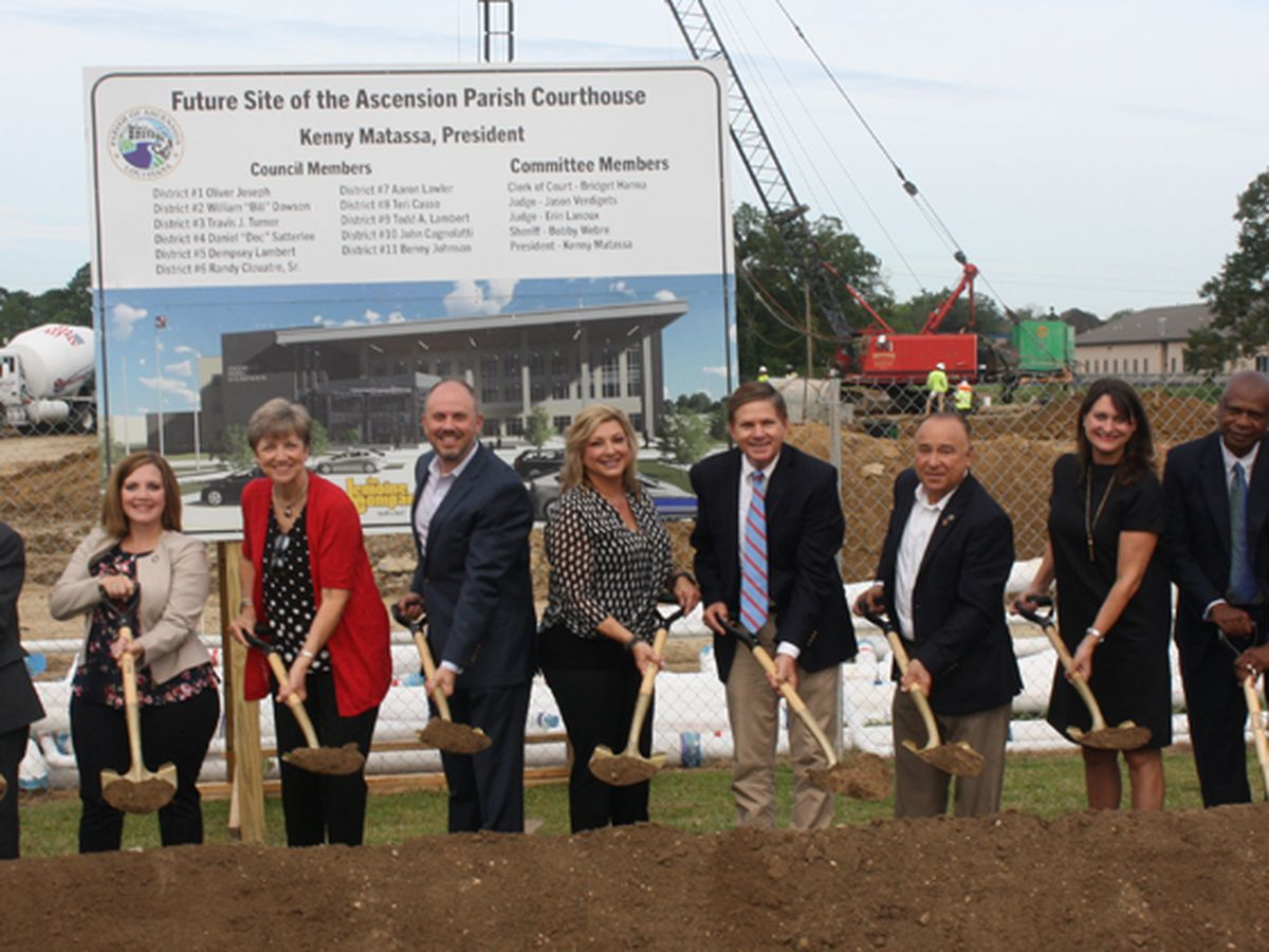 Ascension Parish officials break ground on new courthouse