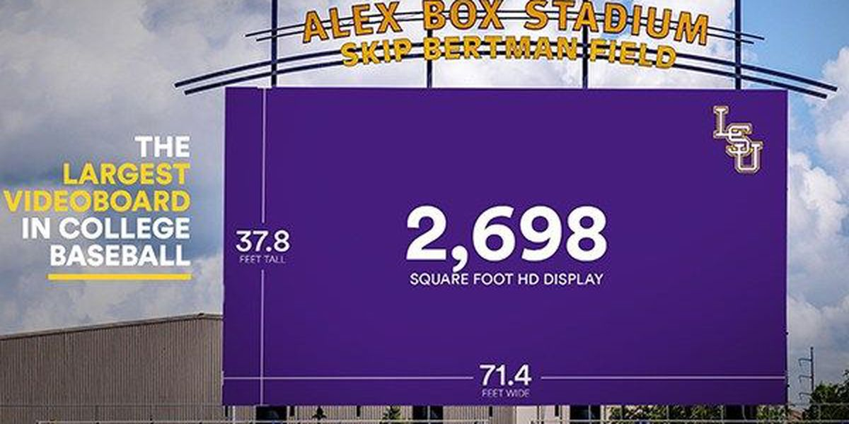 Alex Box Stadium set to have largest videoboard in college baseball