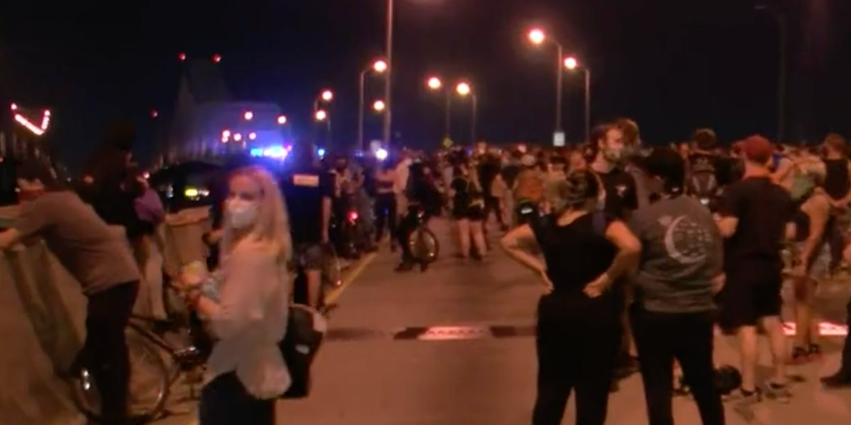 Chief: NOPD forced to fire tear gas into crowd as they rush officers on interstate