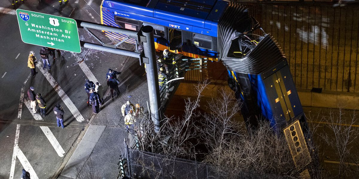 New York City bus dramatically plunges off bridge; driver refuses drug test