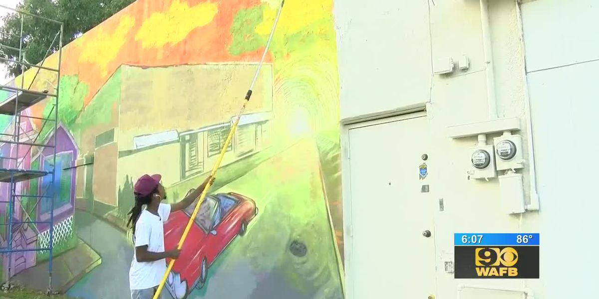 Residents will be able to see Artist Skinny Dope's murals for years to come thanks to the Baton Rouge Walls Project