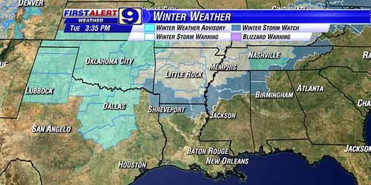 New round of winter weather approaches Louisiana