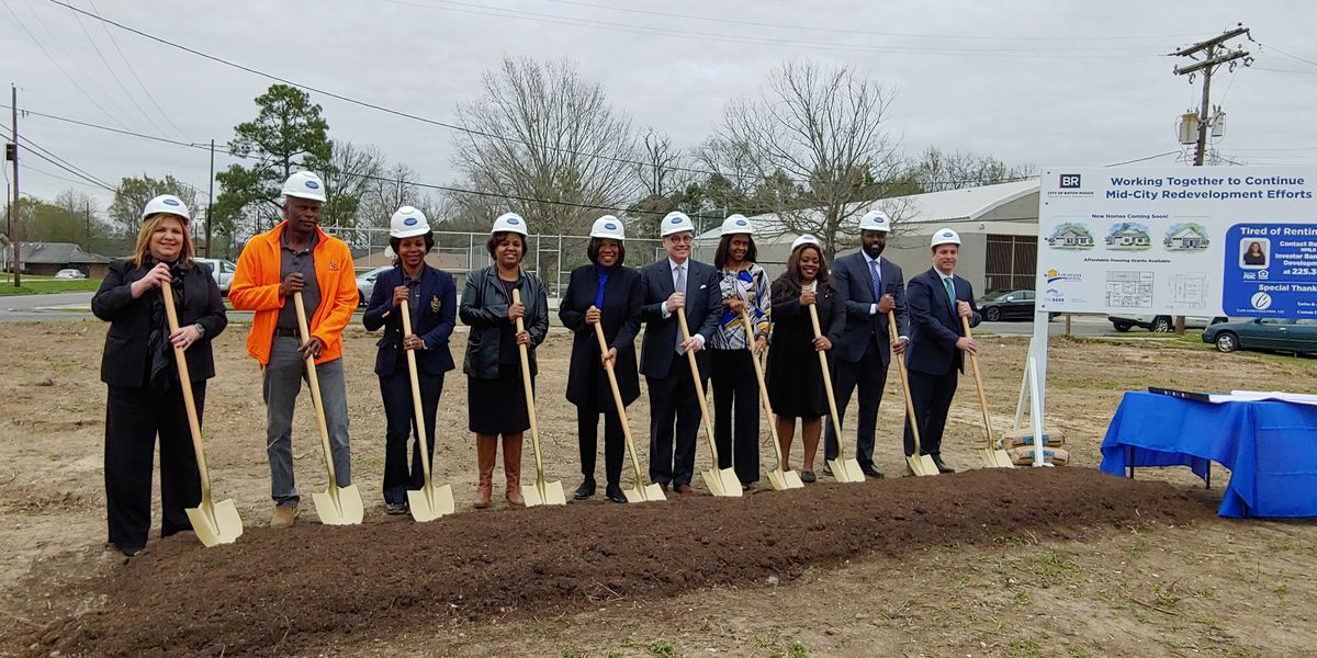 Leaders break ground on new homes in north Baton Rouge subdivision