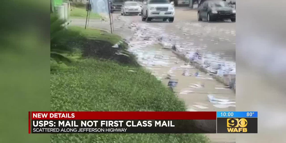 Mail spill on Jefferson Hwy.