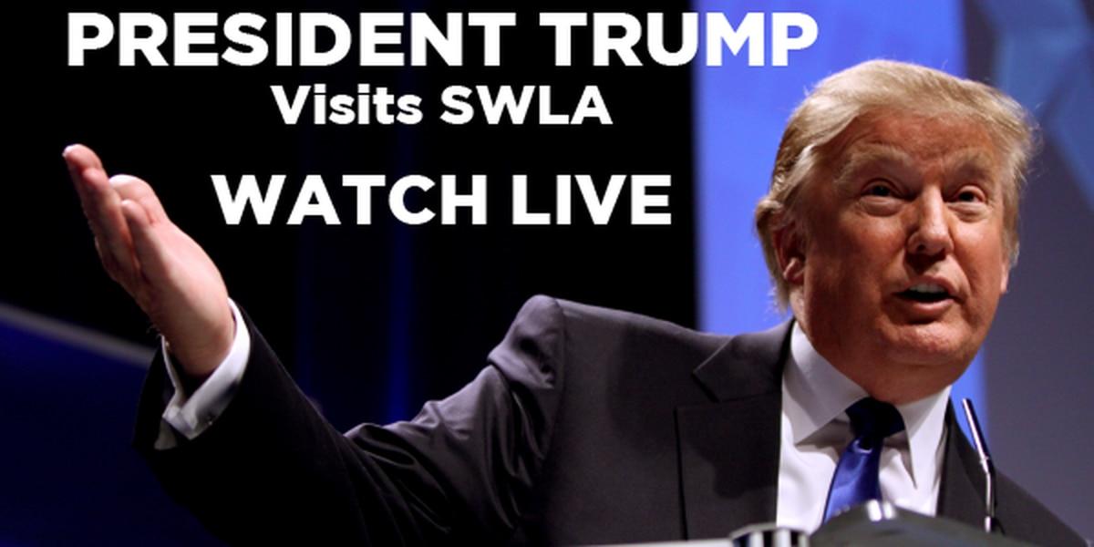 LIVE: Pres. Trump tours Cameron LNG