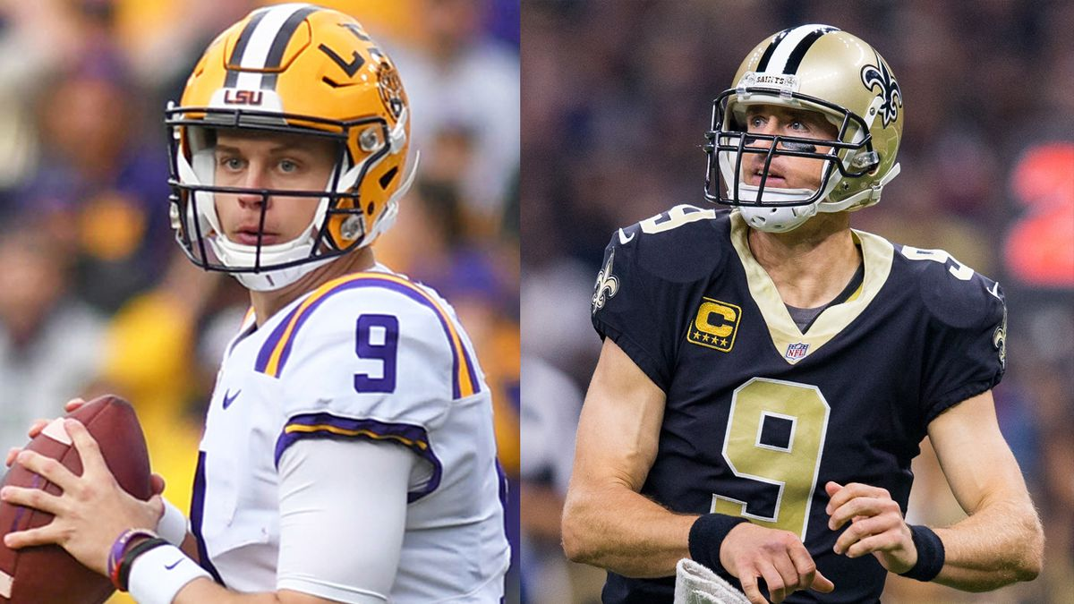 Joe Burrow Meets Drew Brees For The First Time You Were My Idol Growing Up