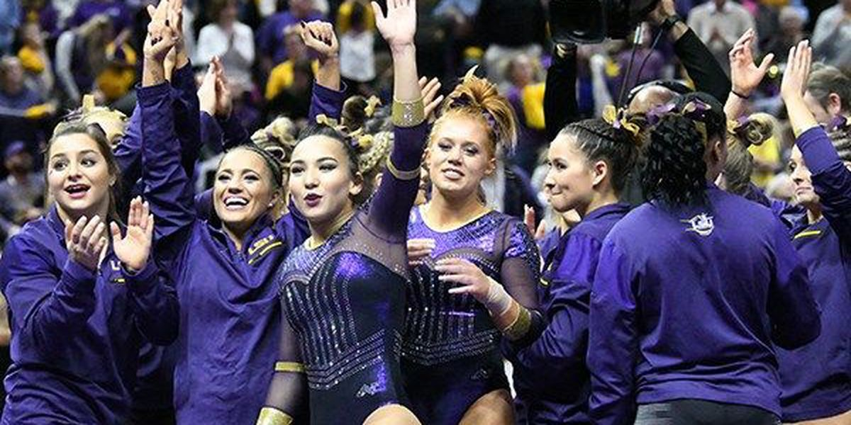 LSU ranked No.2 in this week's gymnastics top 25