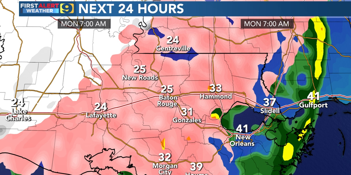 FIRST ALERT FORECAST: Here's what to expect from the upcoming winter storm