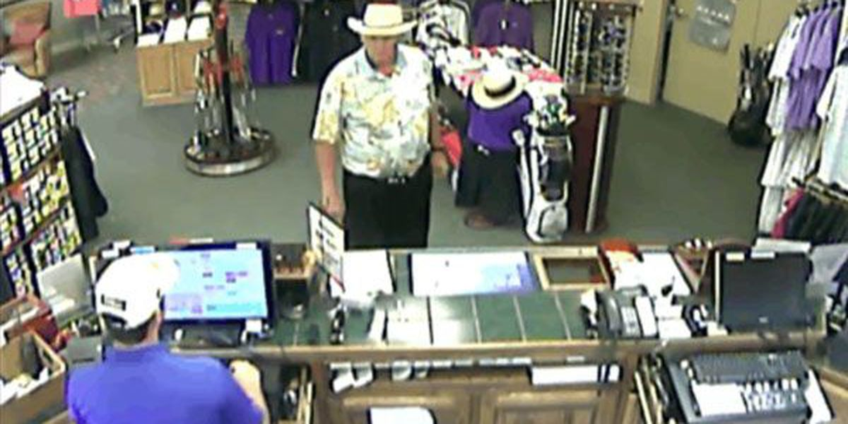 WANTED: Man in Hawaiian shirt steals golf clubs by hiding them in pants
