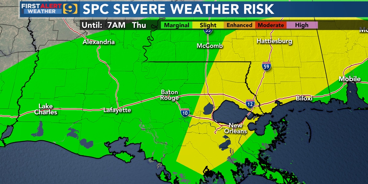FIRST ALERT FORECAST: More storms on the way; NWS confirms tornado near Erwinville