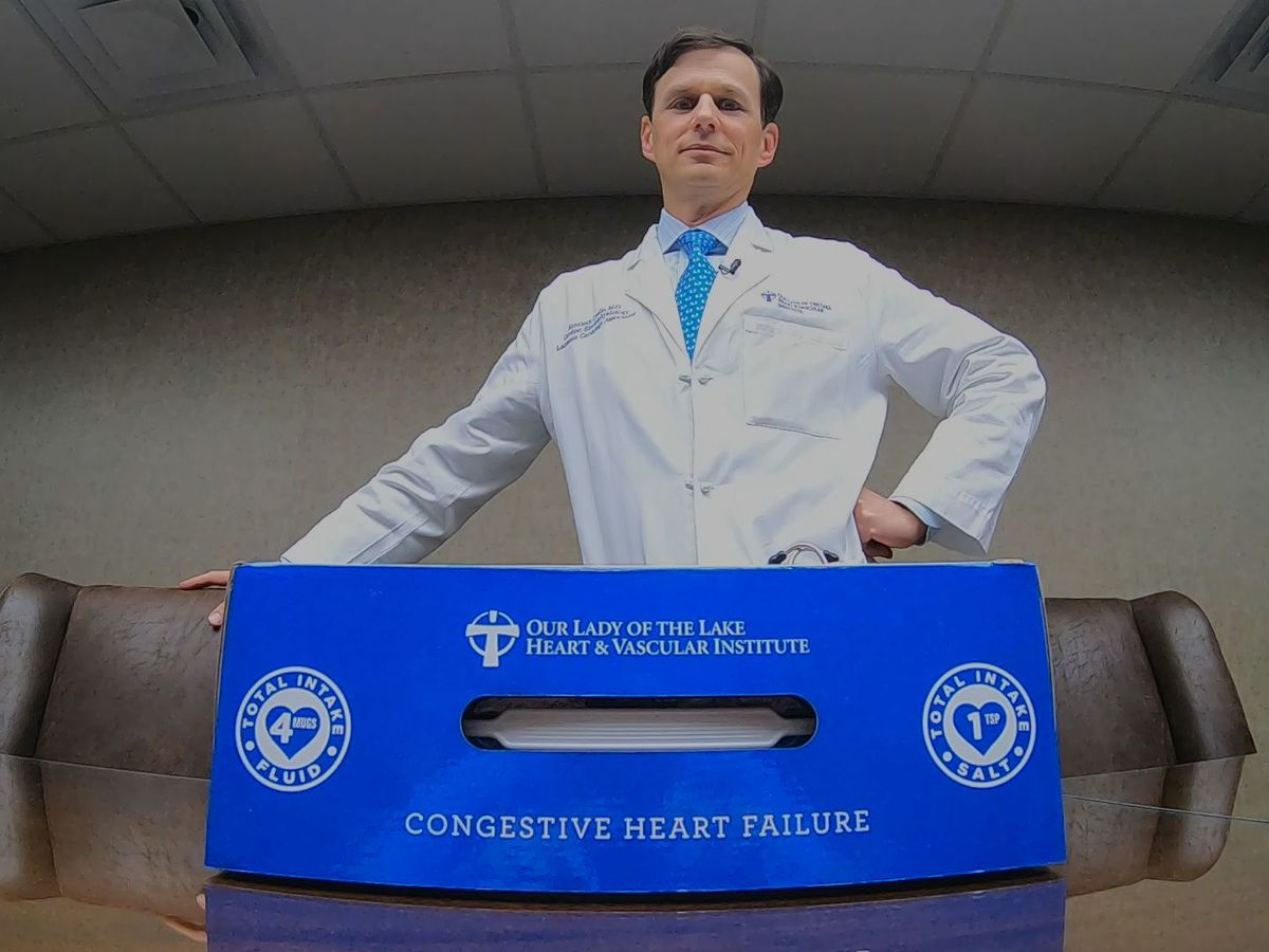 Special box, app designed by doctor at Our Lady of the Lake helps heart failure patients live their best lives