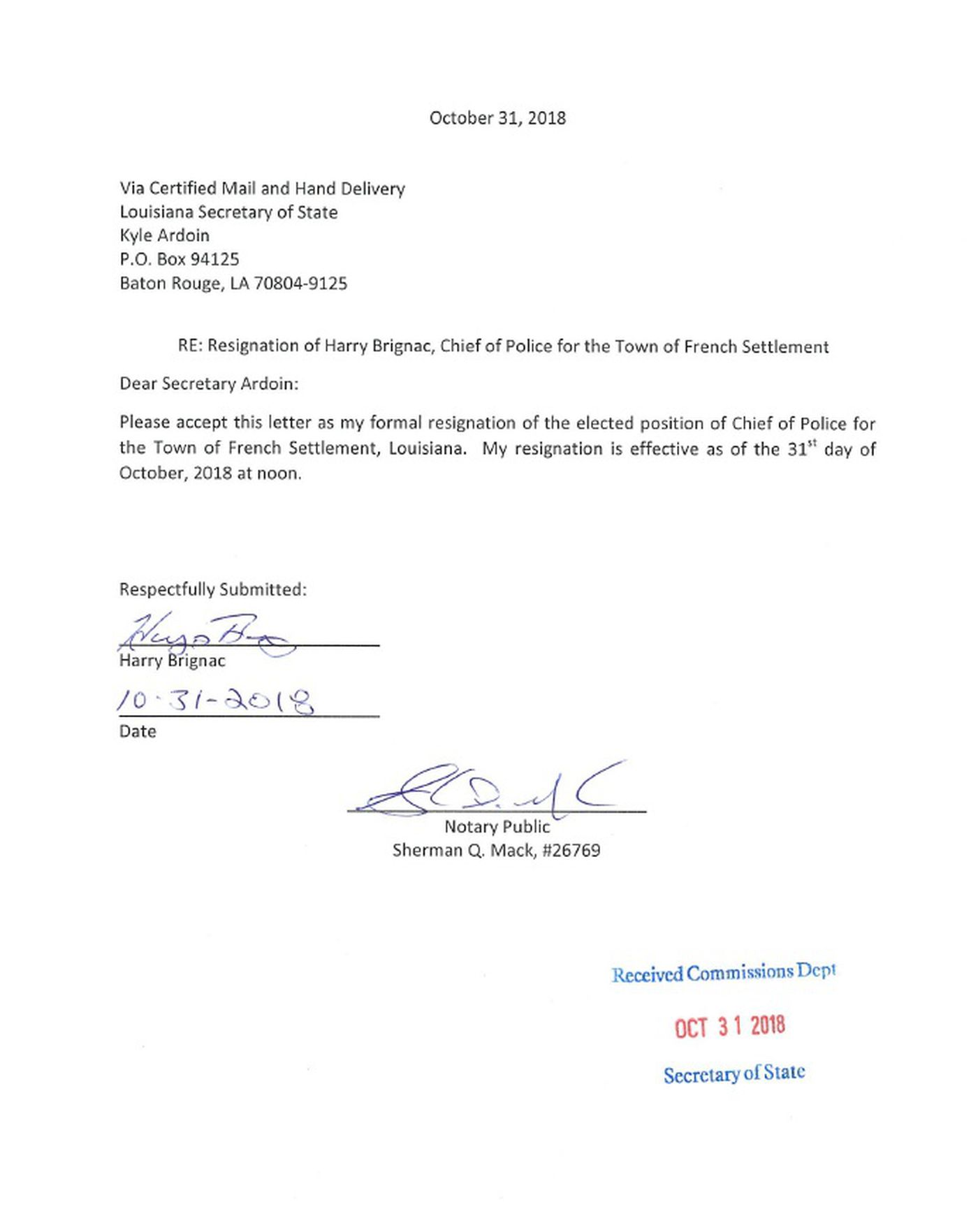 Effective Immediately Resignation Letter from www.wafb.com