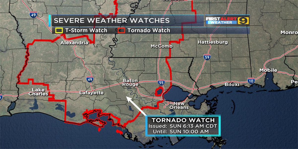 FIRST ALERT FORECAST: Severe weather moves through Baton Rouge area