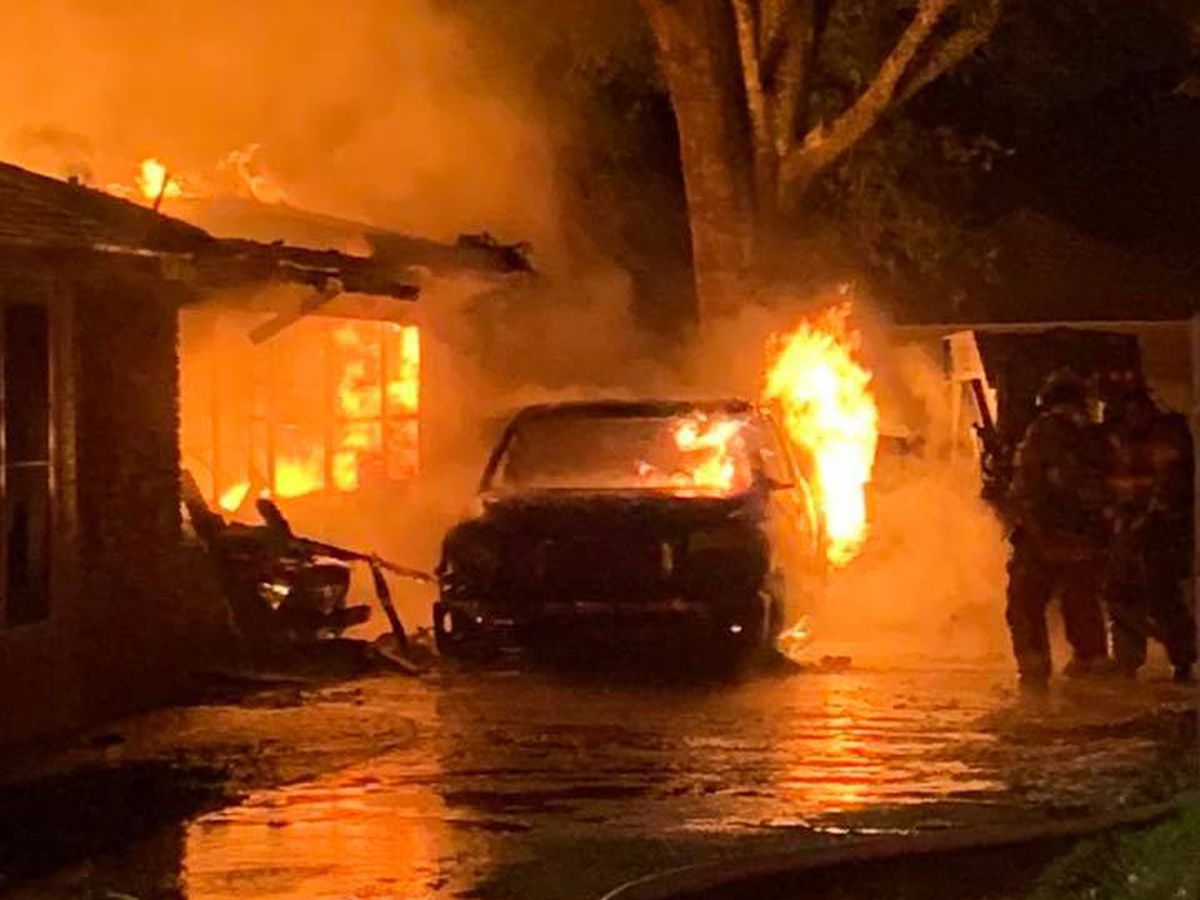 Flames from 2 burning cars spread to Greenwell Springs home