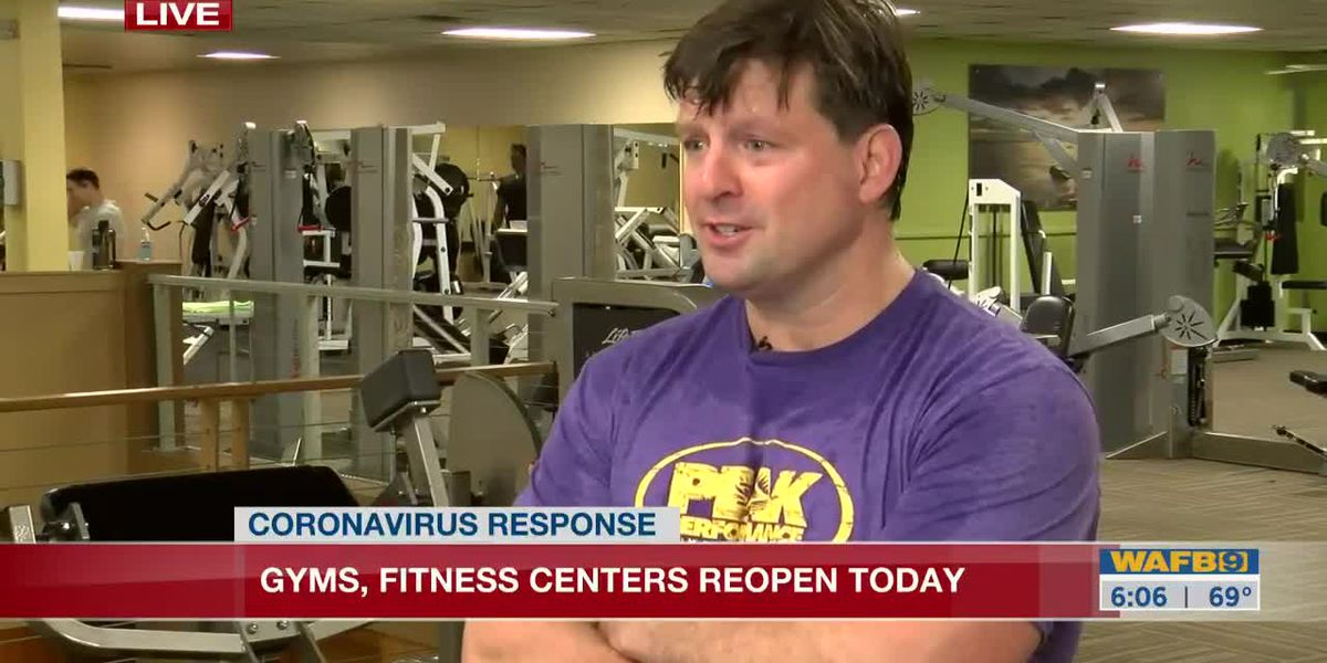 Gyms re-open in Louisiana as a part of Phase 1 - 6 a.m.