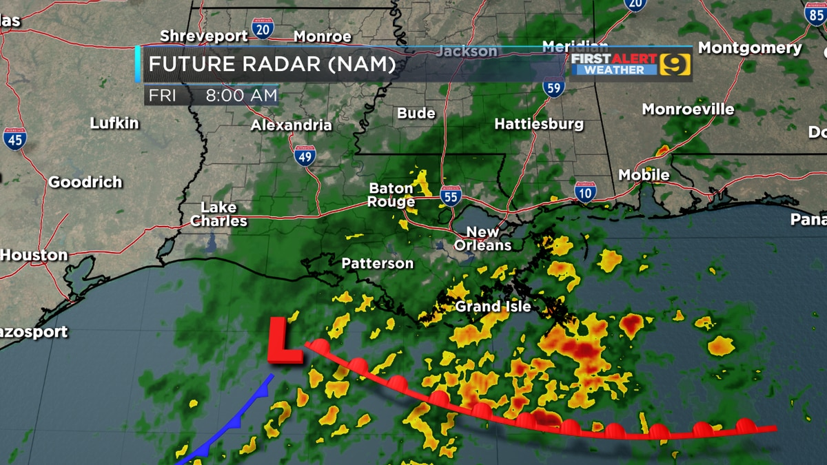 FIRST ALERT FORECAST: Rain moving out until Friday