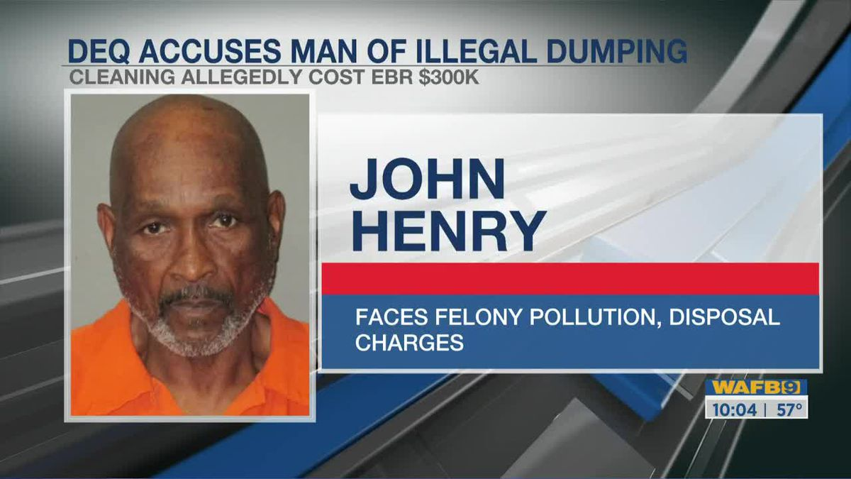 Man facing charges for allegedly dumping toxic waste illegally