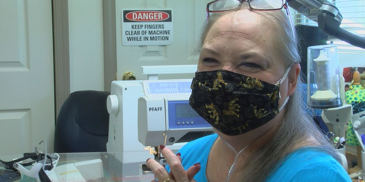 Legally Blind woman from Prairieville makes over 3,000 masks amid coronavirus