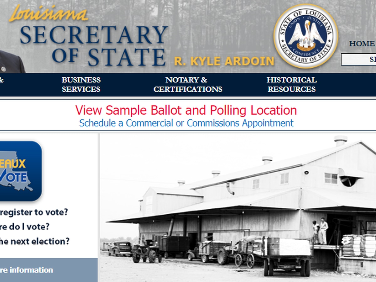 Democrats accuse Ardoin of 'voter suppression, gross incompetence' over website outage; Ardoin says it was maintenance