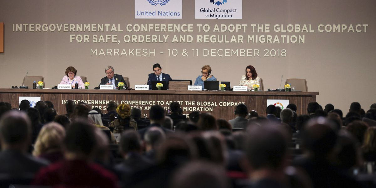 The Latest: Refugee group backs emphasis on migration causes