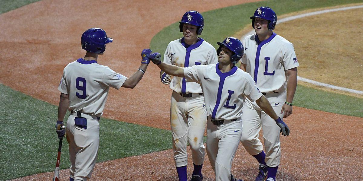 No. 9 LSU baseball shuts out Grambling in Throwback Game