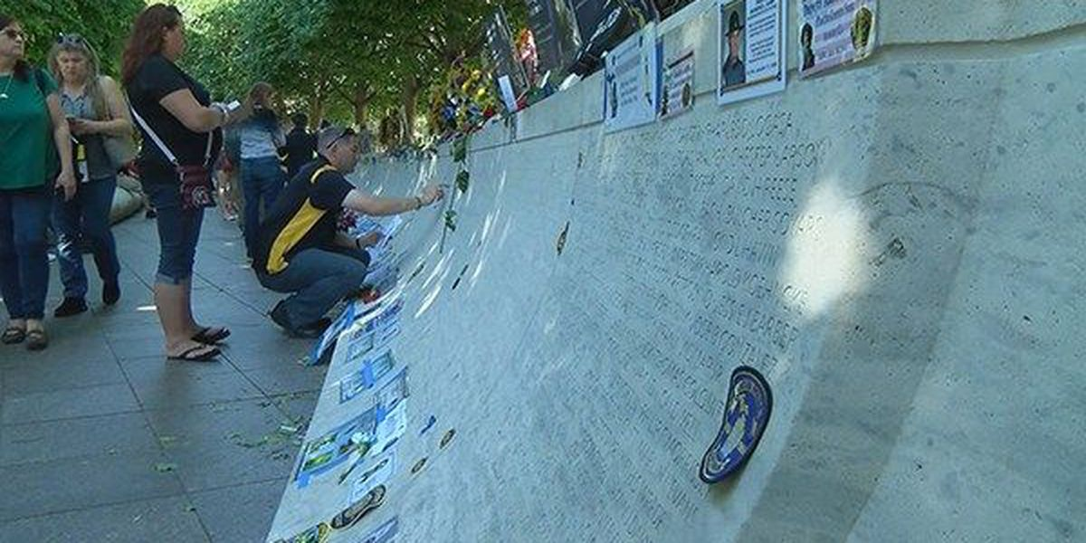 Baton Rouge families attend ceremonies at National Police Memorial in honor of fallen loved ones