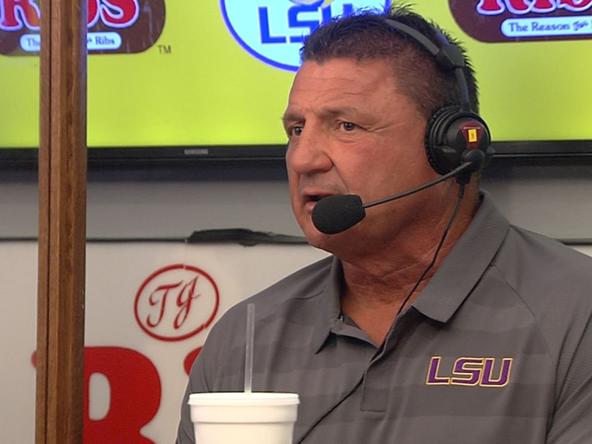 'We'll be ready to go' - During radio show, Orgeron says LSU will be prepared for South Carolina; remains hush on violations