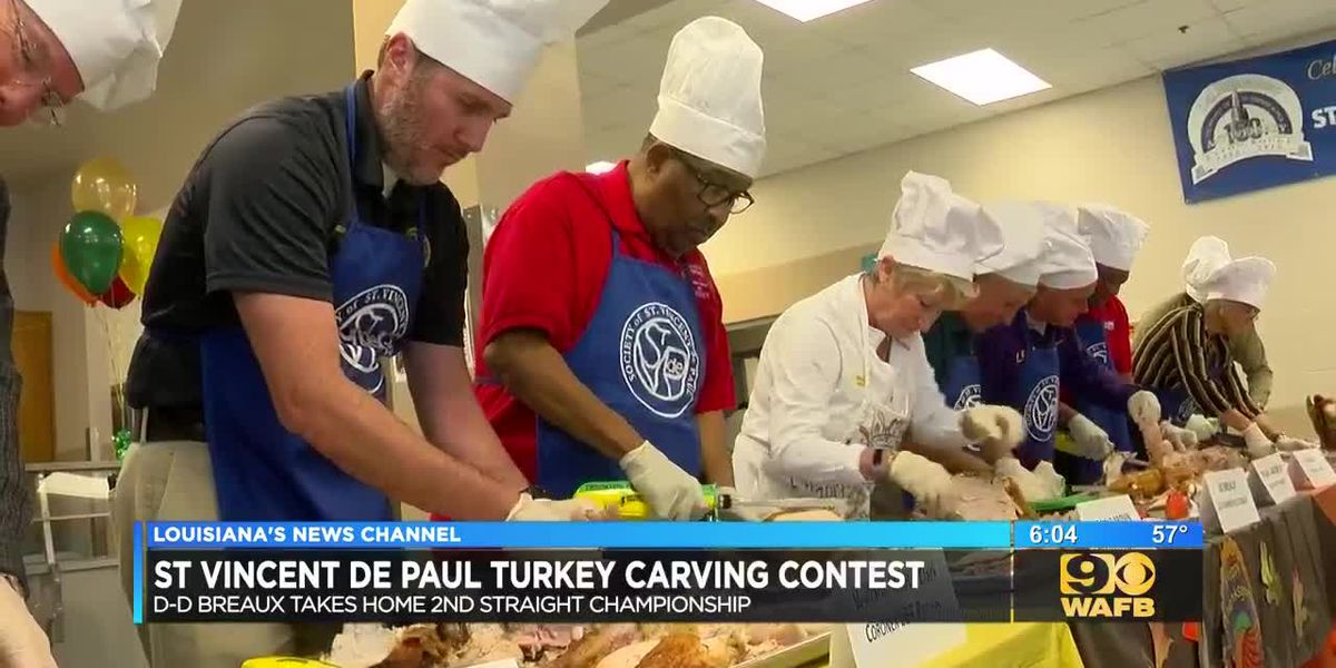 DD Breaux wins another SVDP turkey carving contest