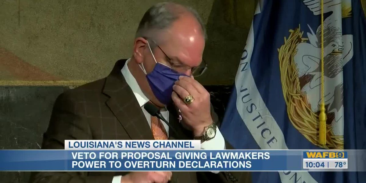 Gov. Edwards vetoes two bills during special session