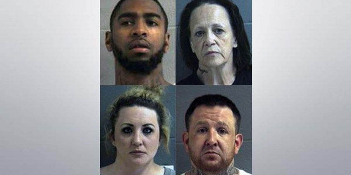 Four arrested after drug, firearms bust; officials find meth, heroin, crack cocaine, and marijuana