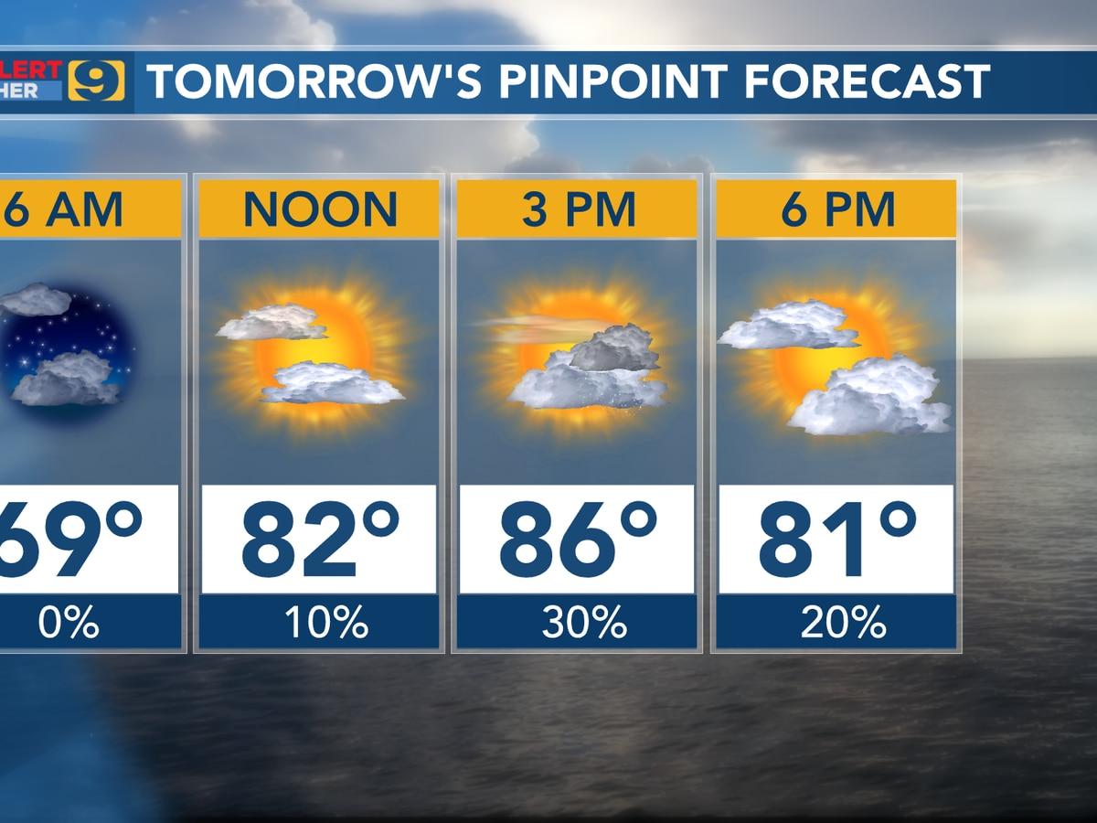 FIRST ALERT FORECAST: Rain chances returning; warm temperatures persist