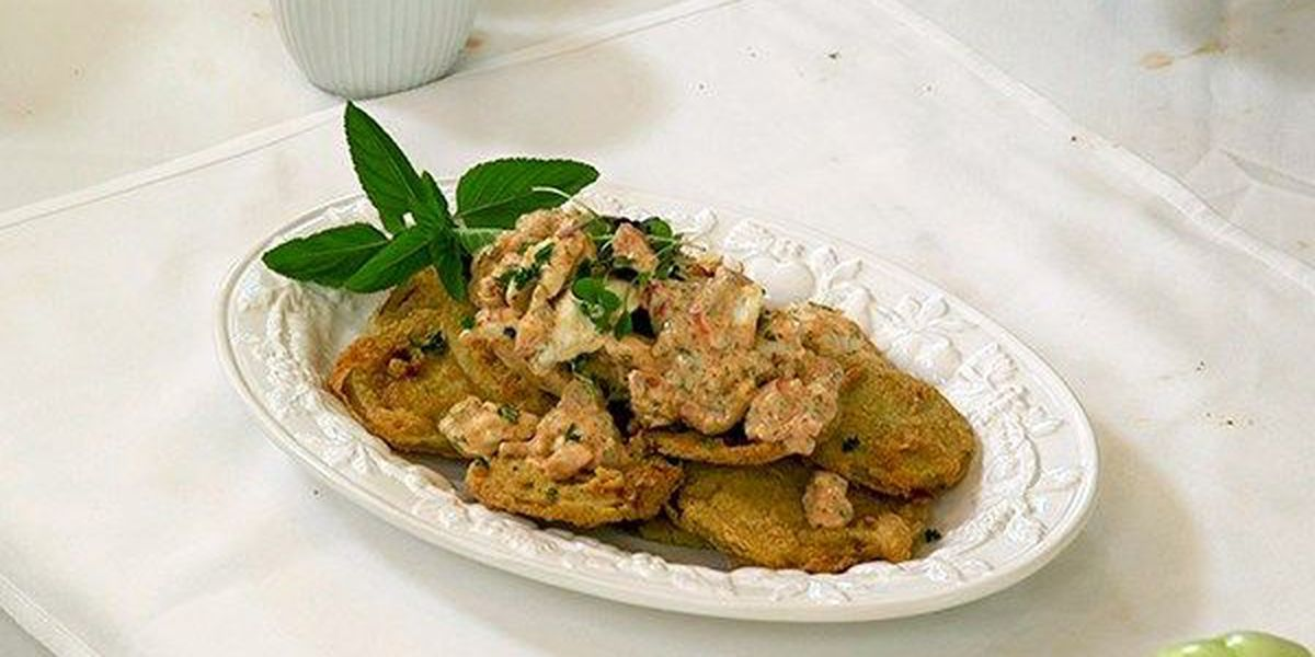 Crab Rémoulade with Fried Green Tomatoes