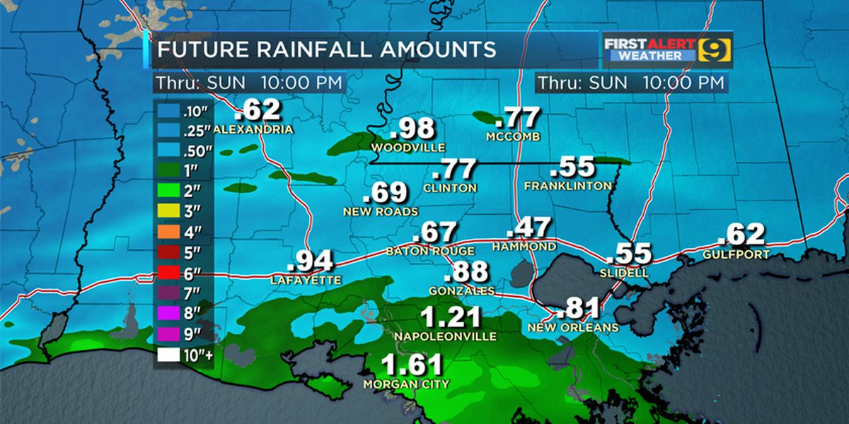 FIRST ALERT FORECAST: Soggy Sunday