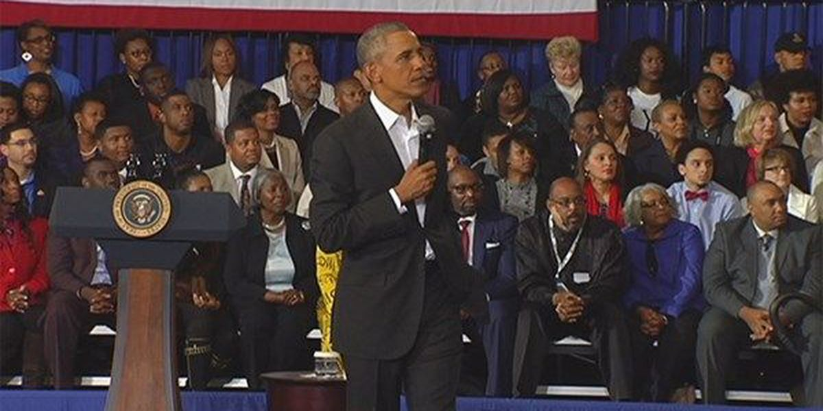 Transcript of President Obama's town hall meeting in Baton Rouge