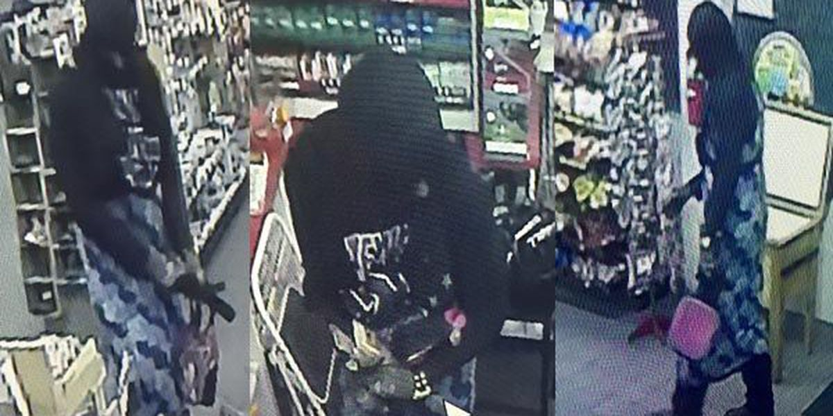 Wanted:Robber wearing dress holds clerk at knifepoint