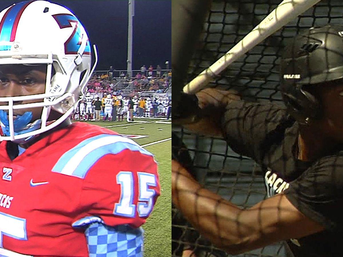 Keilon Brown quietly leads Zachary football and baseball teams