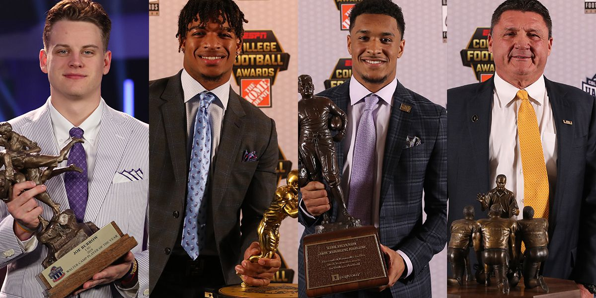 Lsu Sweeps College Football Awards