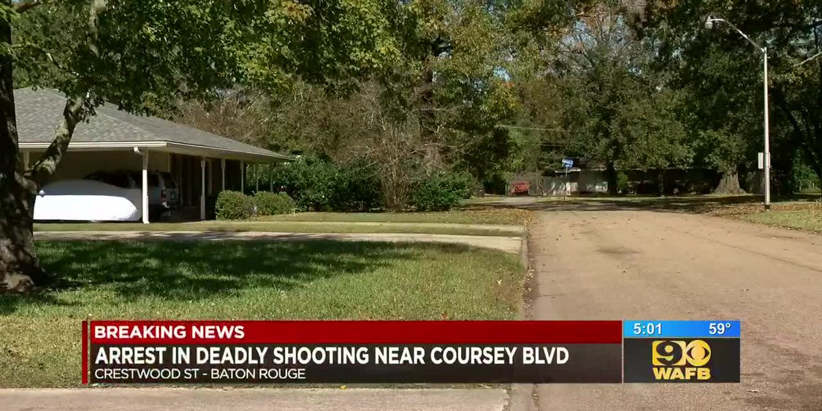 Arrest made in deadly shooting near Coursey Boulevard