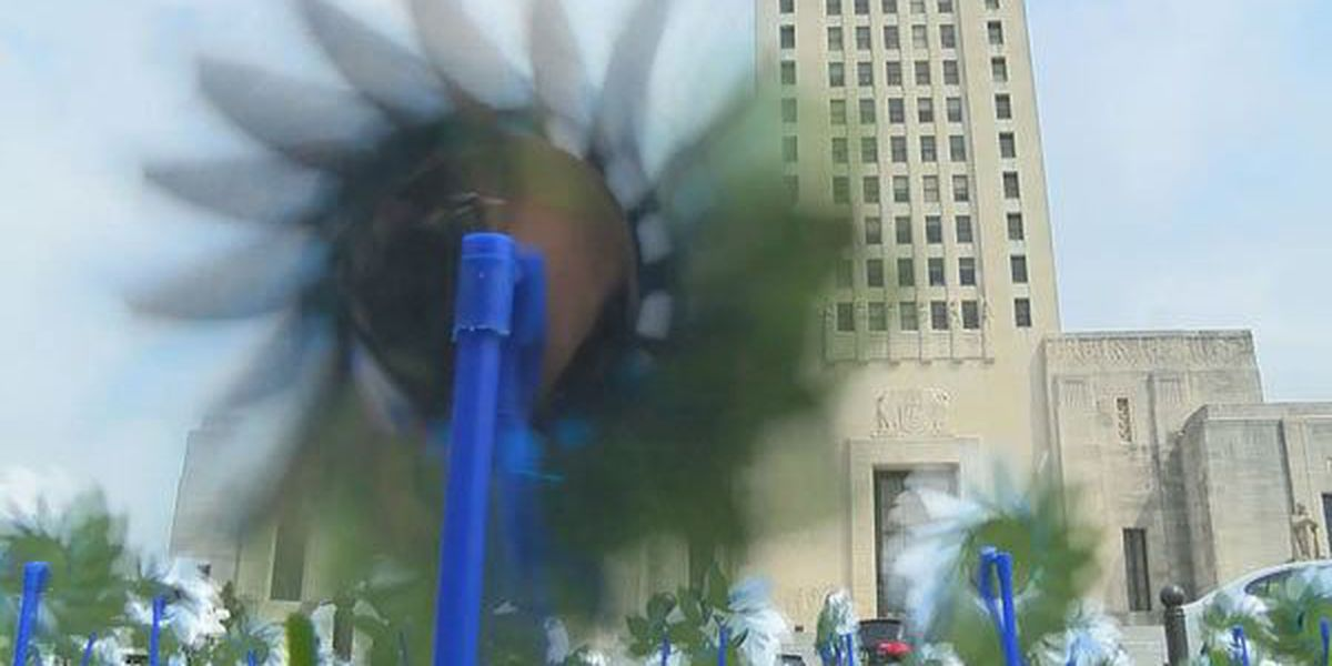 Pinwheel display aims to highlight Childhood Abuse Prevention Month
