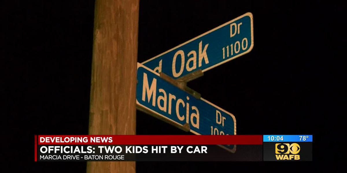Two kids injured after running in front of vehicle