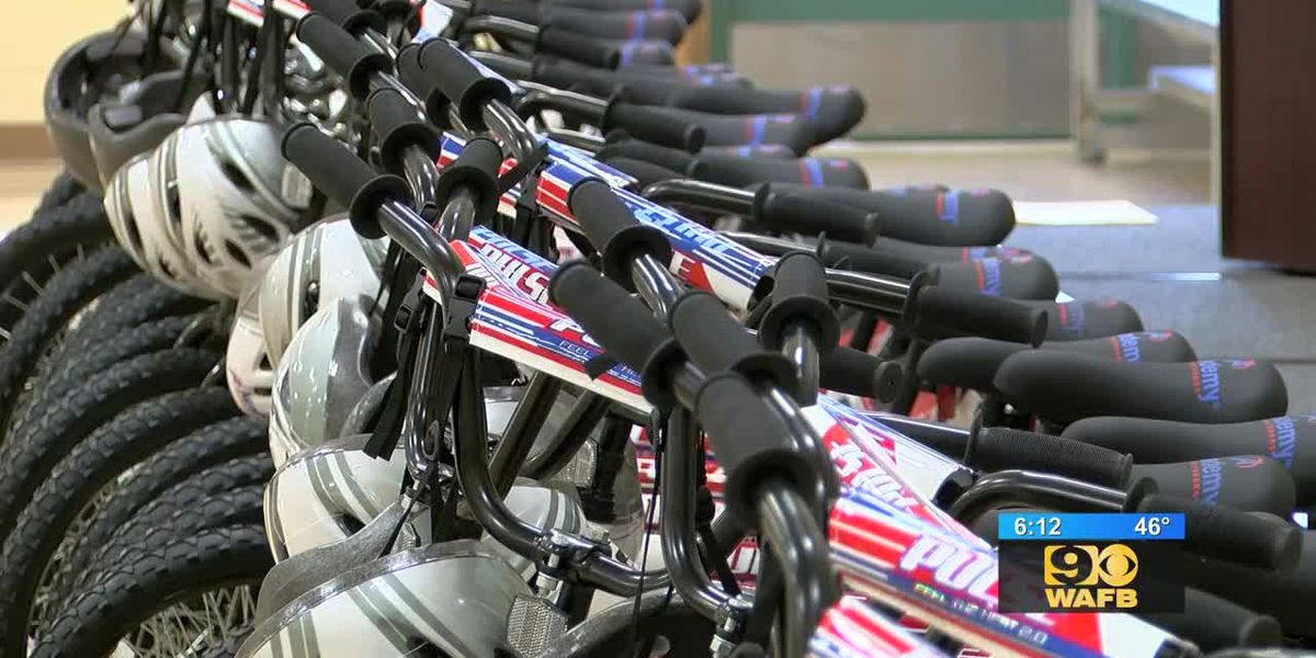Denham Springs students get new bikes thanks to donation from Academy