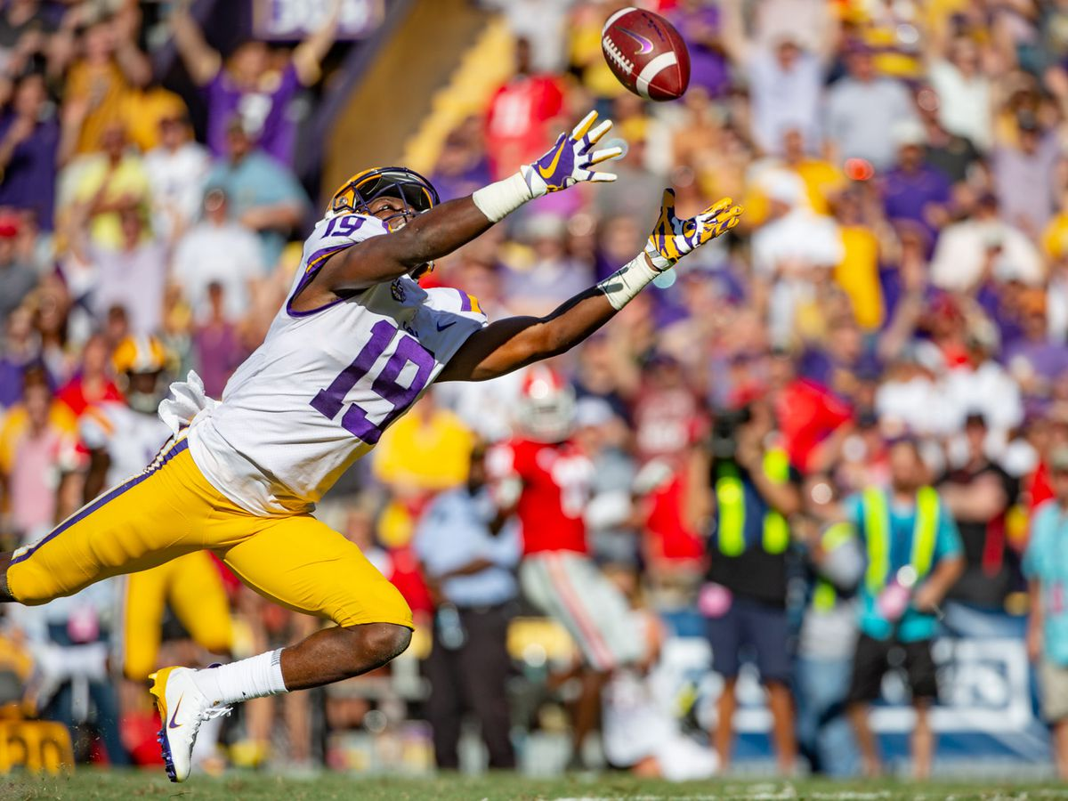 Is LSU sporting purple helmets against Miss. State?