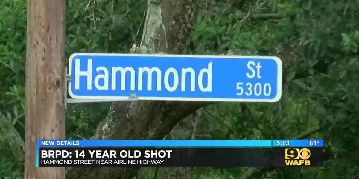 14-year-old shot on Hammond Street
