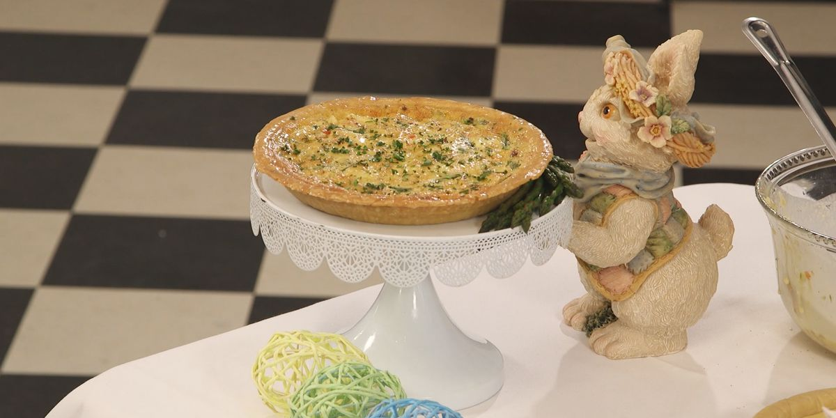 Asparagus Quiche with Crabmeat and Bacon