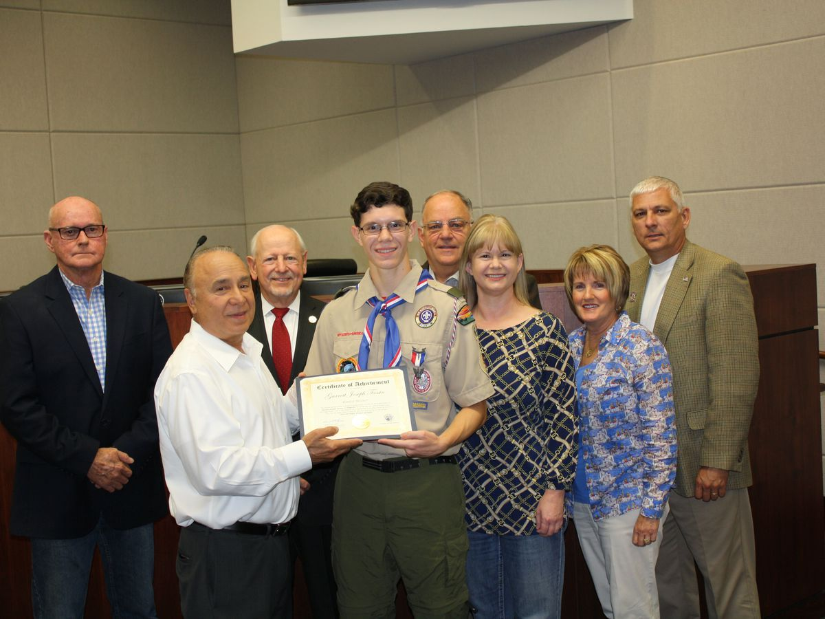 Ascension Parish President honors Dutchtown Eagle Scout