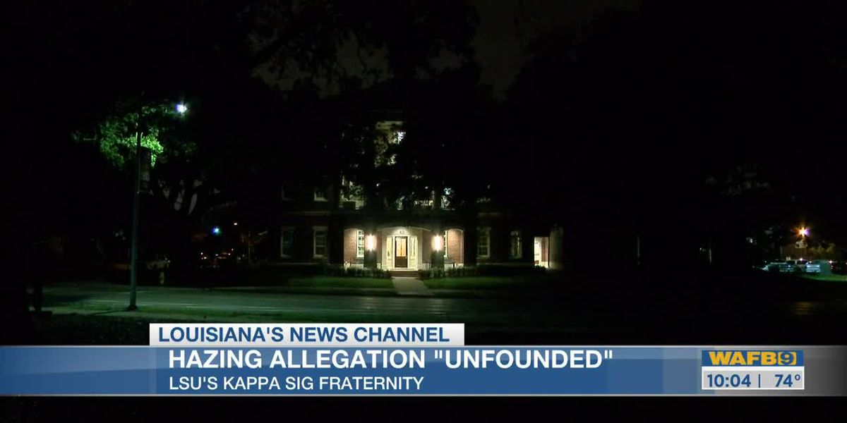 Hazing allegations at LSU reportedly unfounded