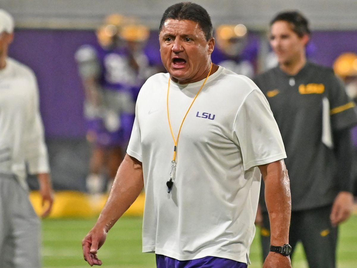"Ed Orgeron ""can't imagine"" being without football"