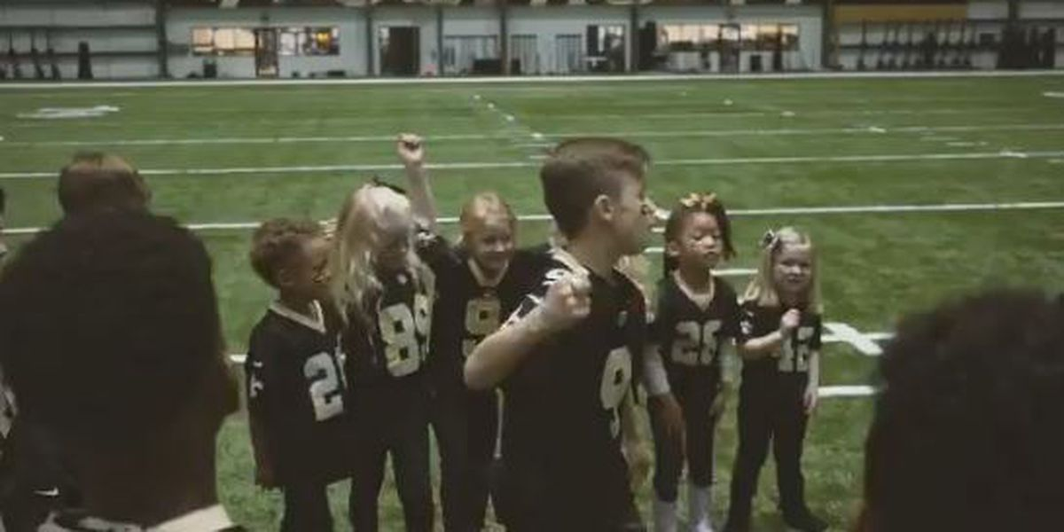 WATCH: Kids of Saints players create pre-game hype video