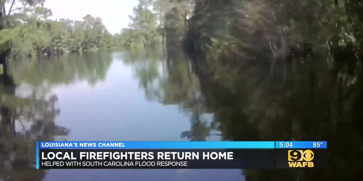 Local firefighters return home
