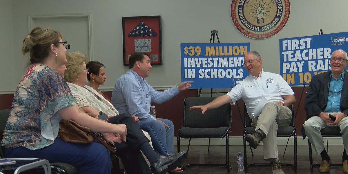 Gov. Edwards discusses teacher pay raises, future of education with local teachers